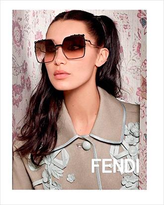 Фото №5 - Белла Хадид в объективе Карла Лагерфельда для Fendi SS17