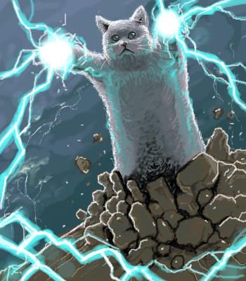 Фото №9 - Умер самый длинный мемокот Интернета Longcat. Каким мы его запомнили в мемах, гифках и видео