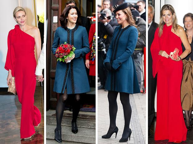 Фото №1 - 10 примеров, когда королевы и принцессы надели одно и то же