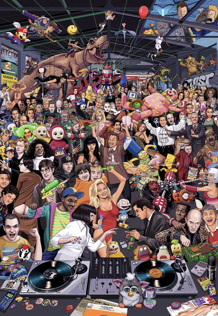 Фото №1 - Суперголоволомка: сколько героев 90-х ты опознаешь?