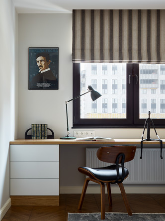 Фото №9 - Трехкомнатная квартира в оттенках синего цвета