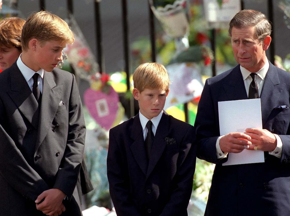 Фото №1 - О чем принц Чарльз попросил Гарри и Уильяма перед похоронами принцессы Дианы