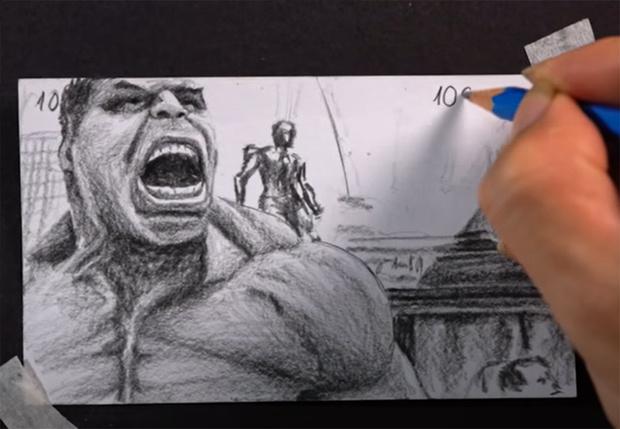 Фото №1 - Художник, создавший гигантский флипбук про Халка, собрал 28 миллионов просмотров (видео)