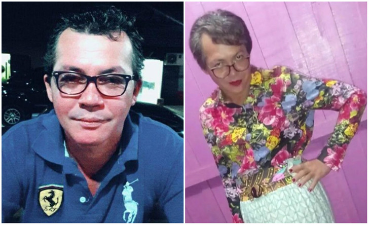 Фото №1 - 43-летний мужчина нарядился своей 60-летней матерью, чтобы сдать за нее экзамен на права