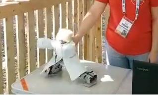 Дмитрию Рогозину показали робота в папахе, танцующего лезгинку (видео)