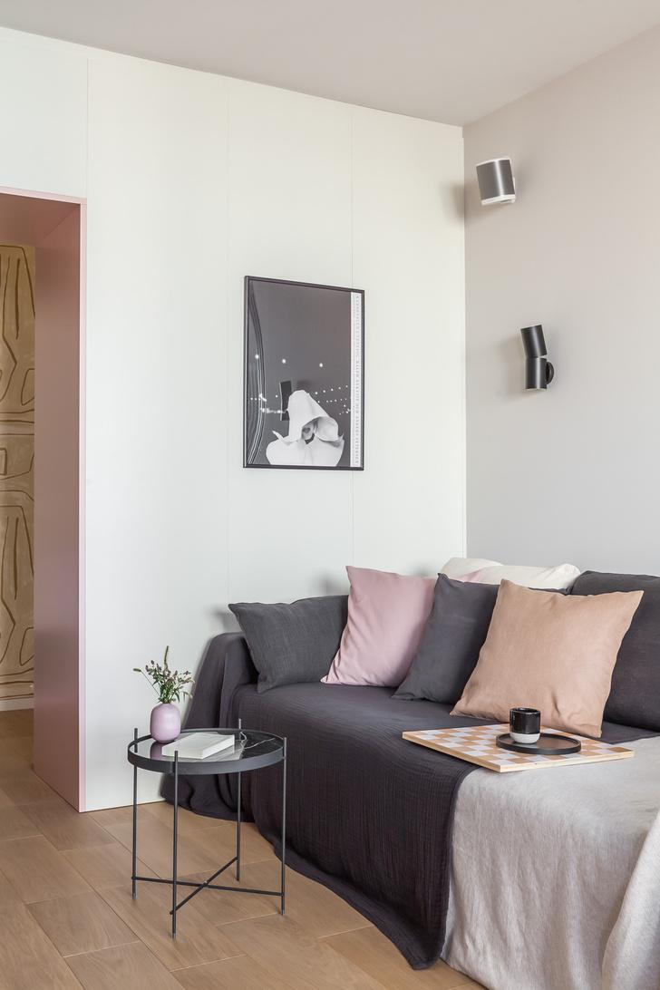 Фото №7 - Светлая квартира 64 м² с золотыми акцентами