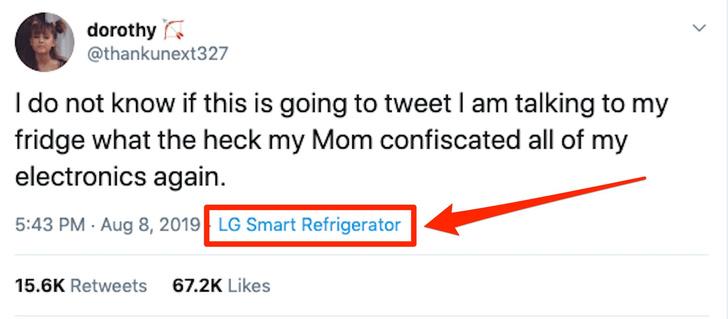 Фото №2 - Родители отобрали у девочки-подростка все гаджеты для выхода в соцсети, но она вошла в «Твиттер» через холодильник