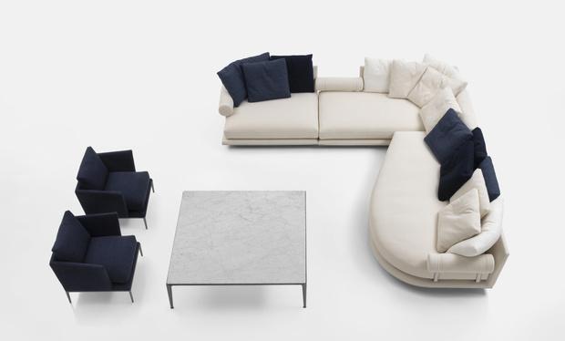 Фото №4 - B&B Italia представляет: диван Noonu по дизайну Антонио Читтерио