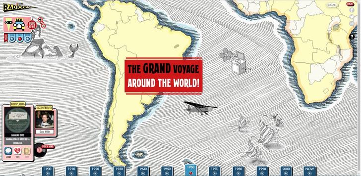 Фото №2 - Сайт дня: Послушай, что крутили на радио по всему миру последние 100 лет