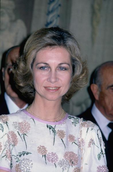 Фото №5 - Винтажный подарок: королева Испании появилась на мероприятии в старом платье свекрови
