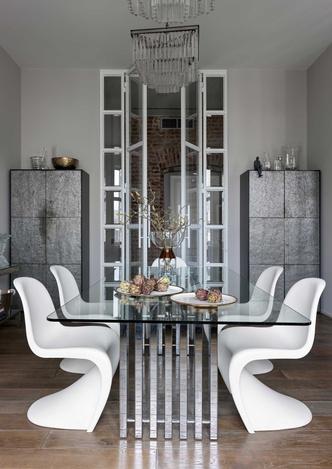 Фото №6 - Винтаж и современность: элегантная квартира на Патриарших прудах 300 м²