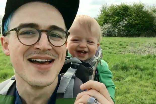 Том Флечтер с сыном