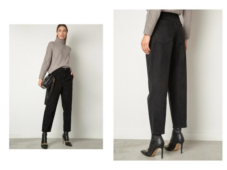 Фото №9 - Актуальные черные джинсы, которые стройнят