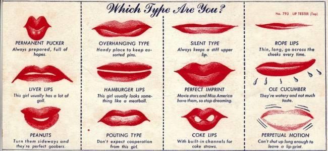 Фото №3 - Определи характер по отпечатку губной помады: довольно обидный тест для женщин из 1948 года