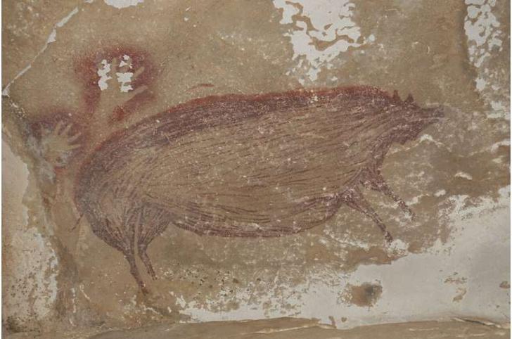 Фото №1 - Найдено древнейшее изображение животного