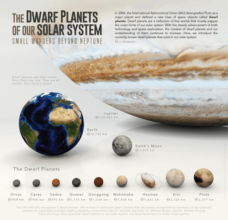Фото №1 - Инфографика: карликовые планеты