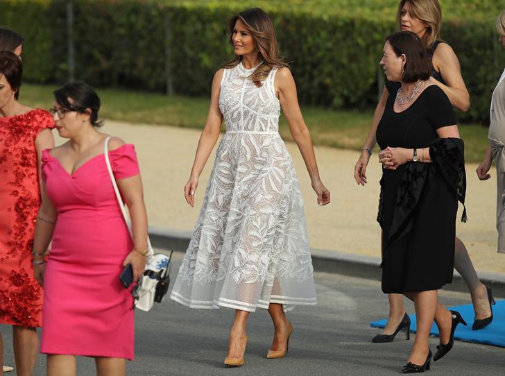 Фото №1 - Звездный час Мелании Трамп: как Первая леди США проявила себя на саммите НАТО