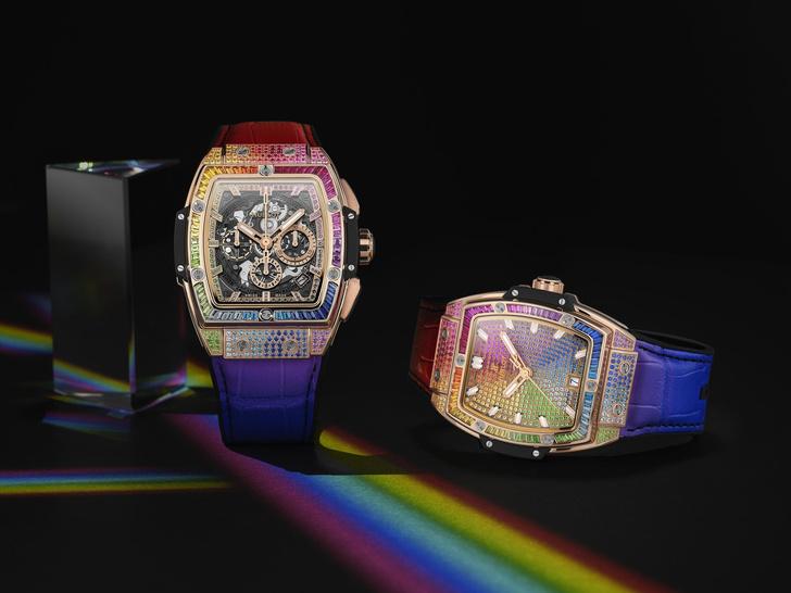 Фото №1 - Все цвета радуги: Hublot представил коллекцию Spirit of Big Bang Rainbow
