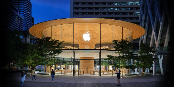 Фото №1 - Новый бутик Apple Store в Бангкоке: проект Foster + Partners