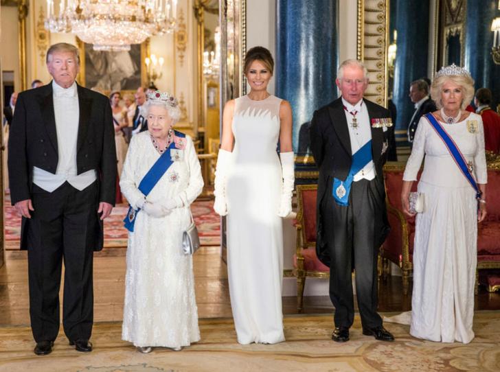 Фото №2 - Как прошел прием в честь Дональда Трампа в королевском дворце
