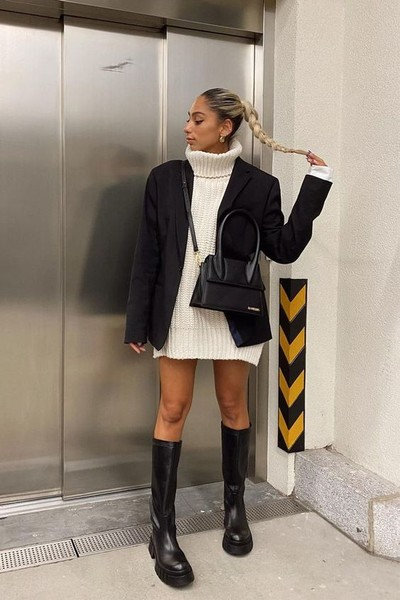 Фото №2 - Одна вещь— 7 образов: собираем луки с черным оверсайз-пиджаком