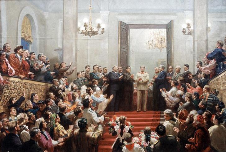 Фото №1 - 1 января 1944 года по Всесоюзному радио впервые прозвучал новый государственный гимн СССР — «Союз нерушимый республик свободных»