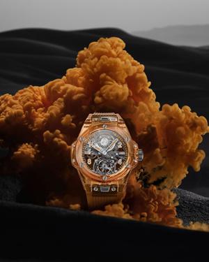 Фото №1 - Hublot представили 50 исключительных часов редкого для индустрии оранжевого цвета