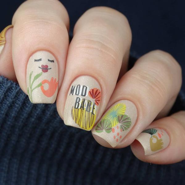 Фото №9 - Яркий маникюр: 12 летних идей для коротких ногтей