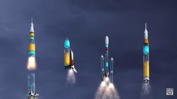 Фото №1 - Как выглядел бы полет ракет-носителей, будь они прозрачными: компьютерная анимация