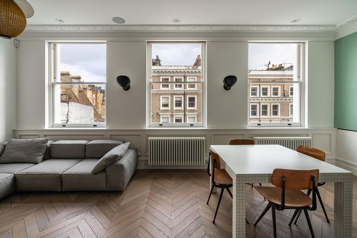 Фото №6 - Квартира с красной лестницей в Лондоне
