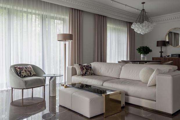 Фото №5 - Белый плюс ваниль: московская квартира 145 м²