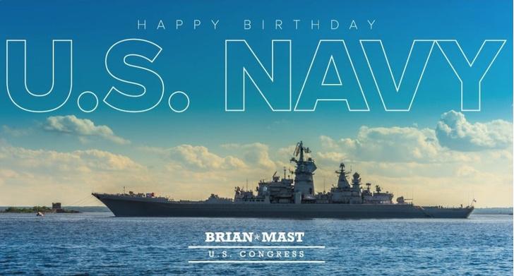 Фото №1 - Американский конгрессмен поздравил ВМС США с годовщиной фотографией русского крейсера