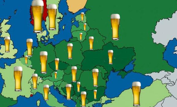 Фото №1 - Карта: сколько стоит пиво в каждой стране Европы