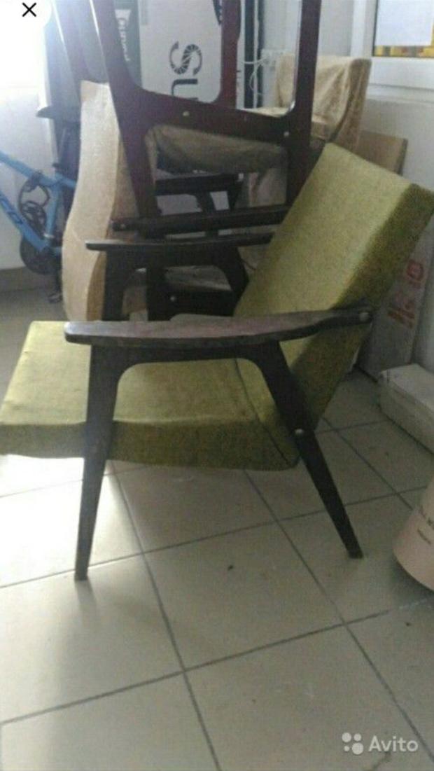Фото №2 - Парни отреставрировали старое советское кресло и сняли процесс на видео