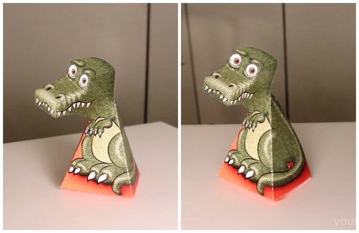 Фото №1 - Как самому сделать 3D-иллюзию «дракон Гарднера» (видео)