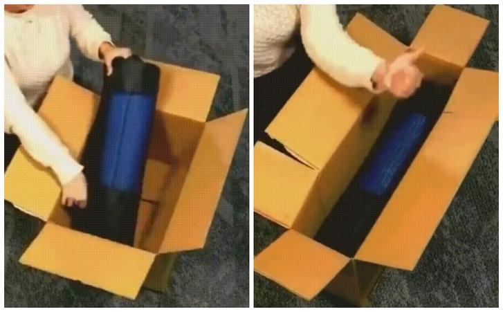 Фото №1 - Лайфхак: как сделать из короткой и широкой коробки узкую и длинную (видео)