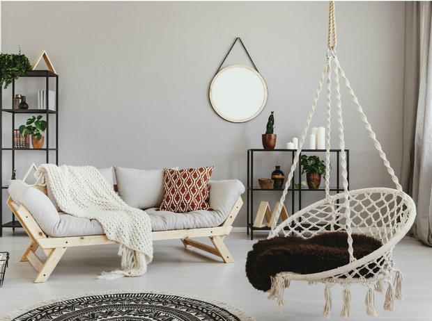 Фото №1 - Подвесное кресло как часть интерьера: советы дизайнеров