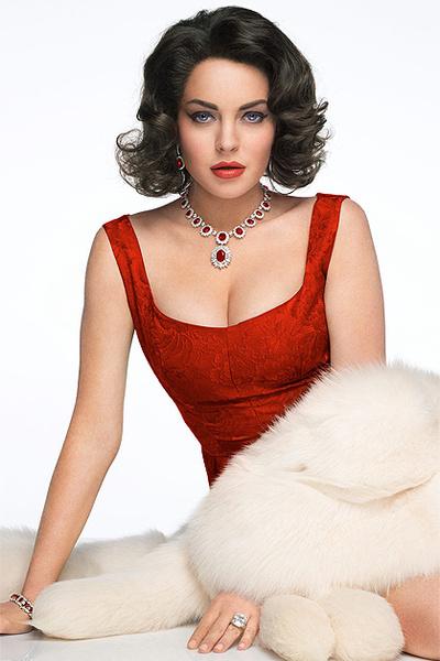 Линдсей Лохан в образе Элизабет Тейлор