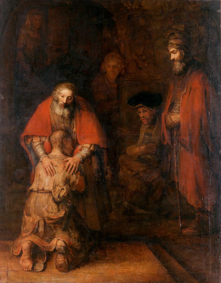 Фото №1 - Цвет любви: 9 загадок картины Рембрандта «Возвращение блудного сына»