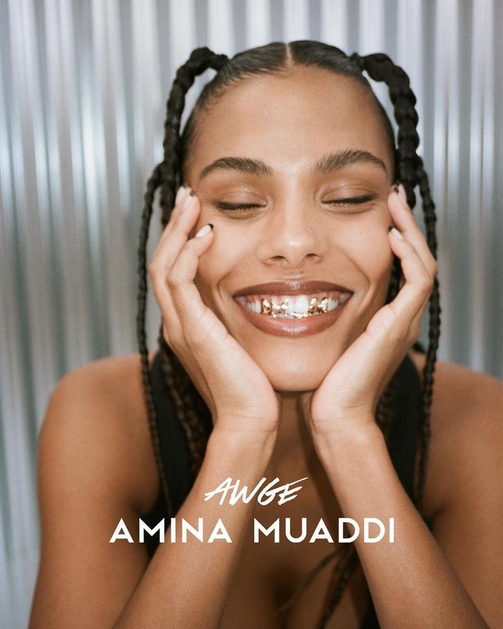 Фото №1 - Такой вы ее еще не видели: Тина Кунаки в рекламной кампании Amina Muaddi