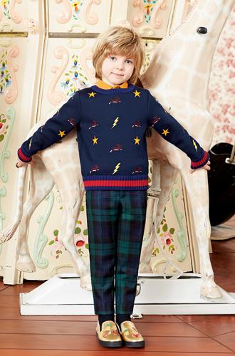 Фото №12 - Золотая карусель: лукбук осенне-зимней детской коллекции Gucci 2016/17