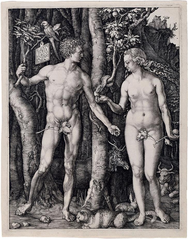Фото №9 - Галерея: как изображали Адама и Еву последние  2000 лет