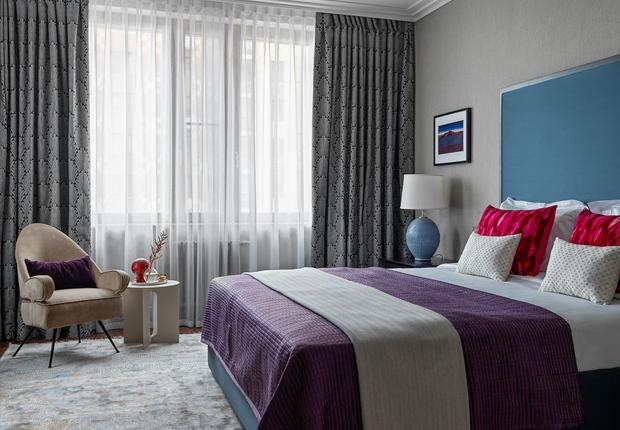 Фото №4 - Цветные сны: Color Blocking в спальне