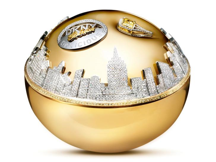 DKNY, Golden Delicious Million dollar Fragrance bottle, около 1 миллиона долларов