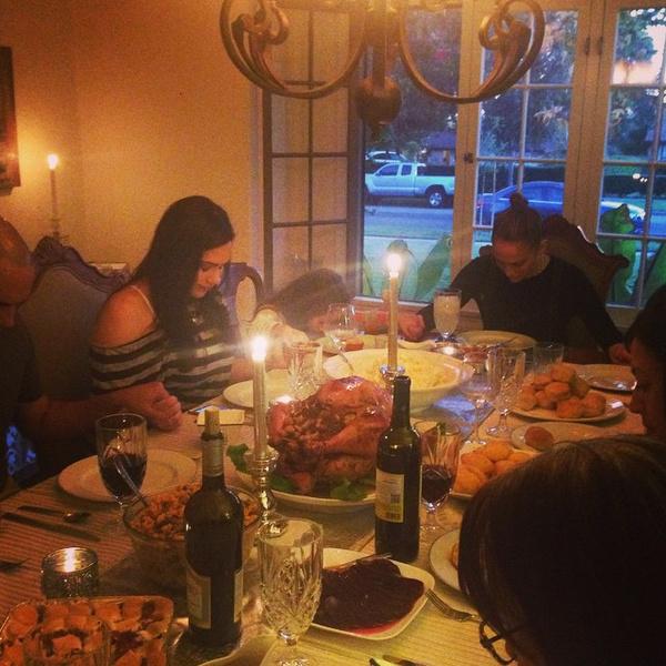 Фото №8 - Как знаменитости отпраздновали День благодарения
