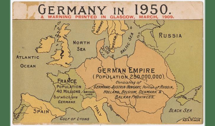 Фото №1 - Карты: Как западные страны, противники Германии, представляли себе ее победу в войне