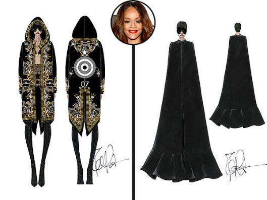 Фото №2 - Рианна отправится в тур в нарядах от Givenchy