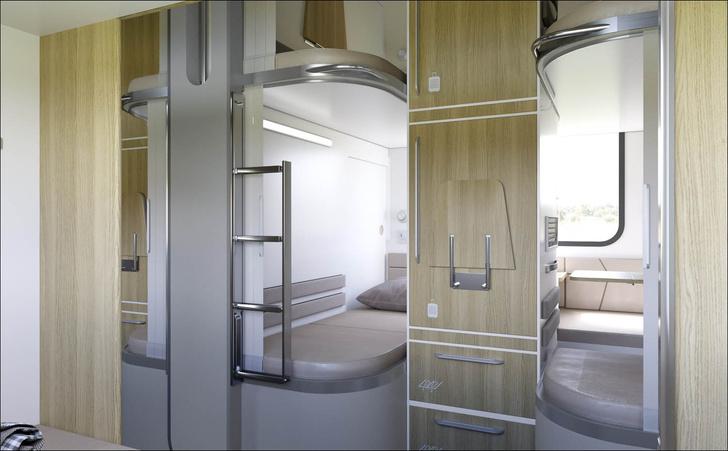 Фото №2 - РЖД показали макет новых плацкартов с отдельным отсеком для каждого пассажира (фото)