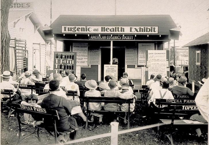 Евгеническая экспозиция на ярмарке. Канзас, 1929