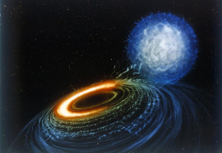 Фото №1 - Астрономы зафиксировали столкновение черной дыры с объектом, которого «не должно существовать»